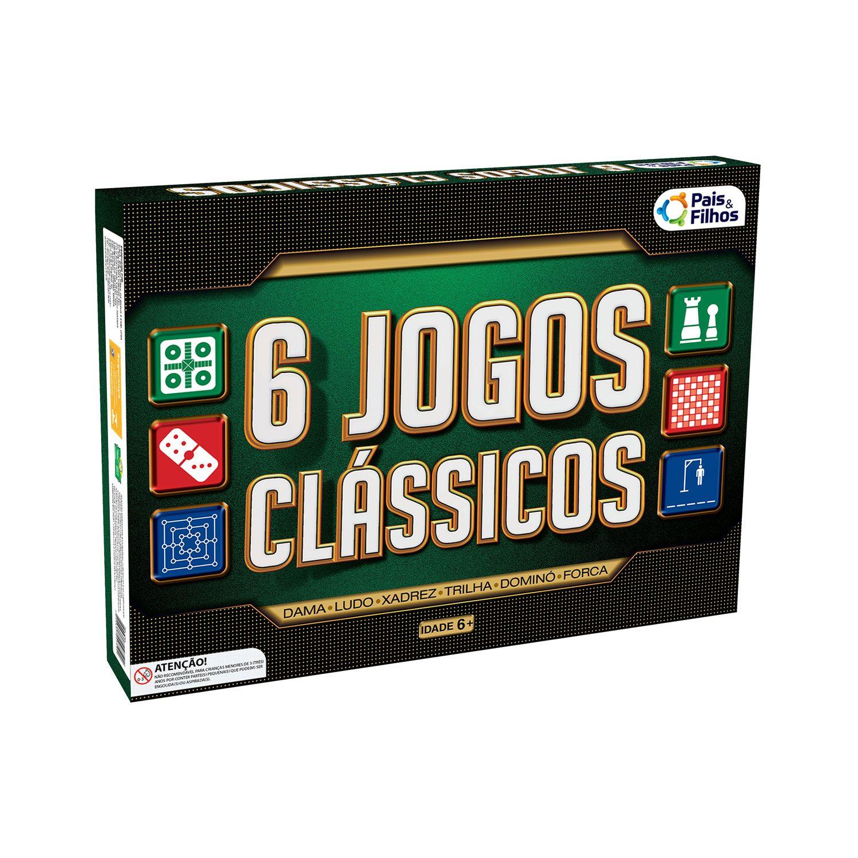 Jogo Com 6 Jogos Clássicos - Pais e Filhos