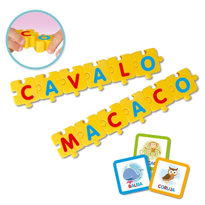 Jogo Pedagógico Monta Palavras - Elka