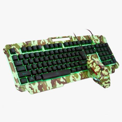 Kit teclado e mouse xplorer gamer plus - xtrad
