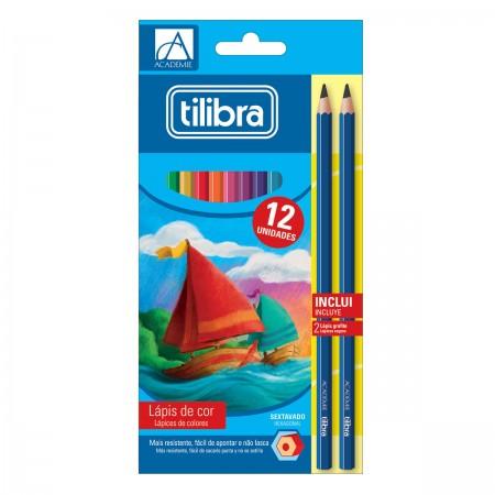 Lápis de Cor Academie 12 Cores - Tilibra