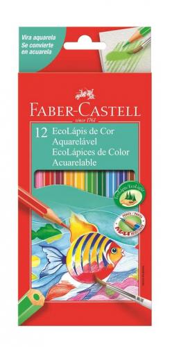 Lápis de Cor Aquarelável Com 12 Cores - Faber Castell