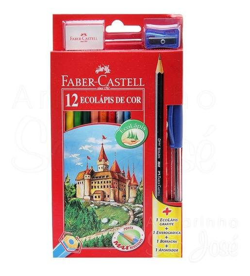 Lápis de Cor Cores da Natureza C/ 12 Cores + 4 itens - Faber castell