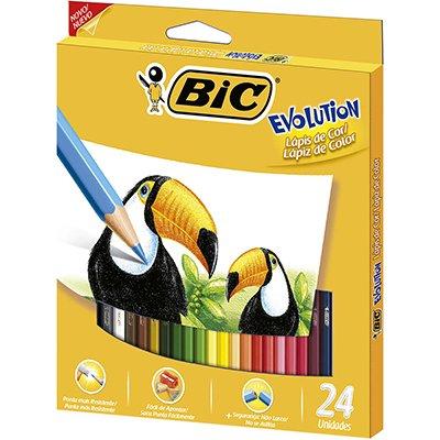 Lápis de cor evolution c/ 24 cores - BIC