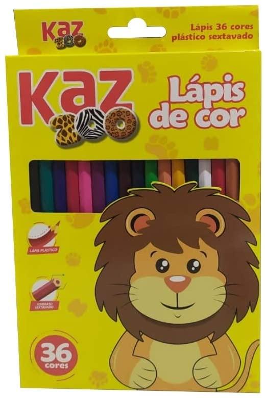 Lápis de cor sextavado c/ 36 cores - KAZ