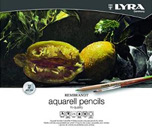 Lápis Lyra Rembrandt Aquarela Profissional 24 Cores
