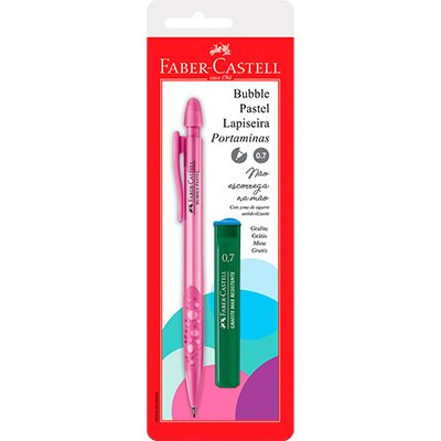 Lapiseira Bubble Patel 0.7 Rosa c/ Grafite - Faber-Castell