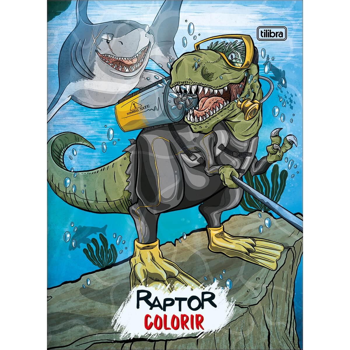 Livro P/ Colorir Raptor 8 Folhas - Tilibra