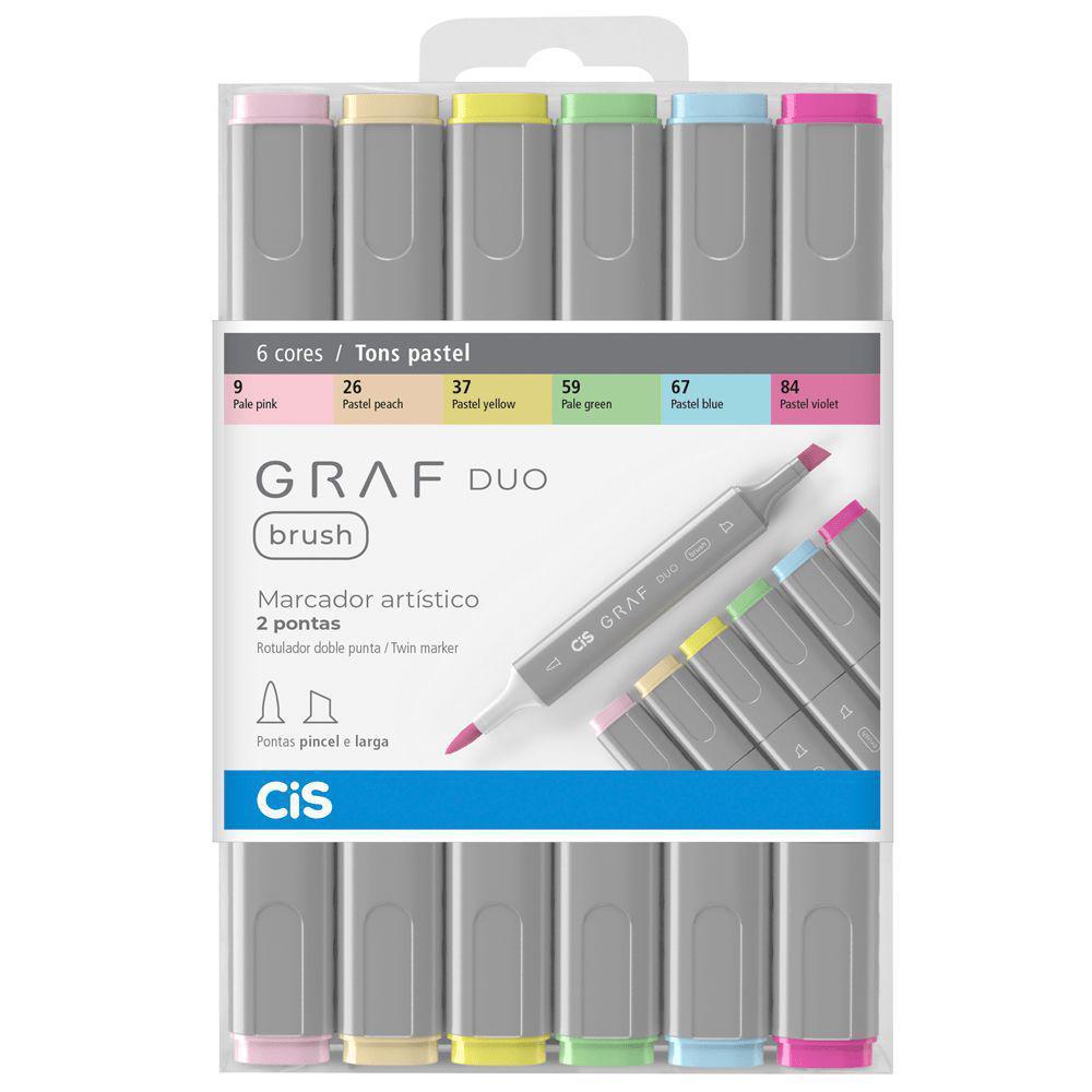 Marcador Artístico Graf Duo Brush Tons Pastel Cis