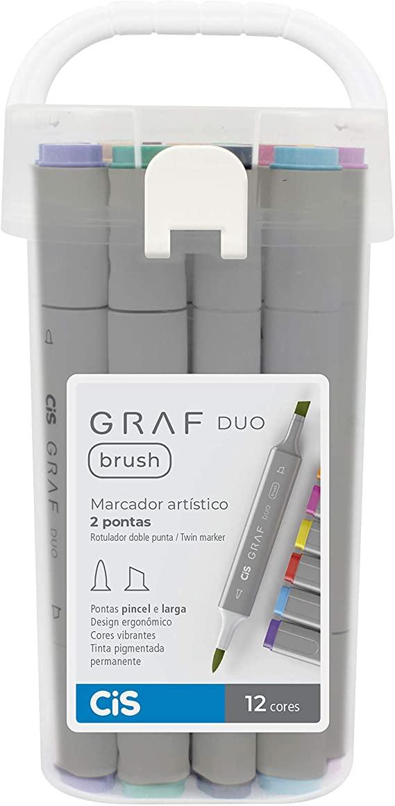 Marcador Artístico Graf Duo c/ 12 unids - CIS