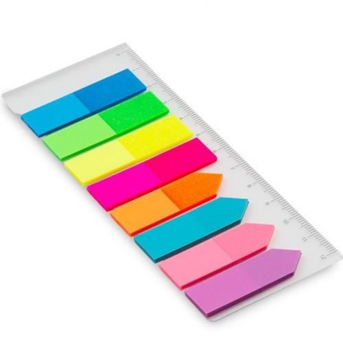 Marcadores de Página Adesivo Com 8 Cores - Maxprint