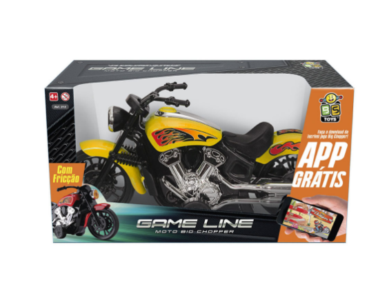Moto Big Chopper com Friccão - BS Toys