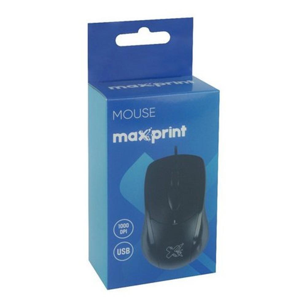 Mouse USB Óptico Scroll Preto Maxprint