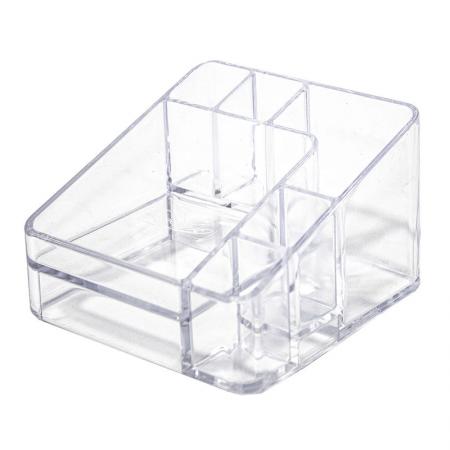 Organizador De Cosméticos Compacto C/6 Divisórias Cristal - Dello