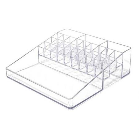 Organizador De Cosméticos Plus C/31 Divisórias Cristal - Dello