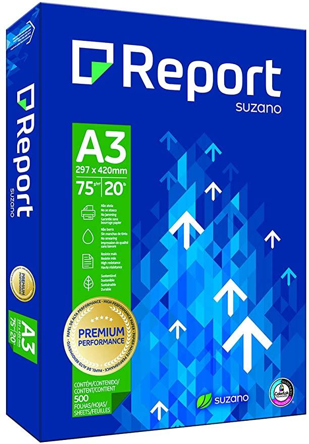 Papel Sulfite A3 - 297 x 420 c 500 folhas Report