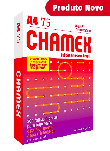 Papel Sulfite A4 Branco Com 300 Folhas 75 g/m² - Chamex