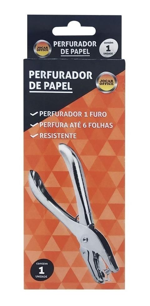 Perfurador De Papel 1 Furo Redondo Scrapbook 6mm - Jocar Office