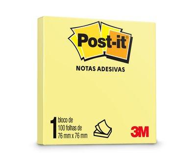 Post-it® Amarelo 76 mm x 76 mm - 100 folhas