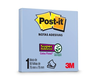 Post-it® Azul 76 mm x 76 mm - 90 folhas