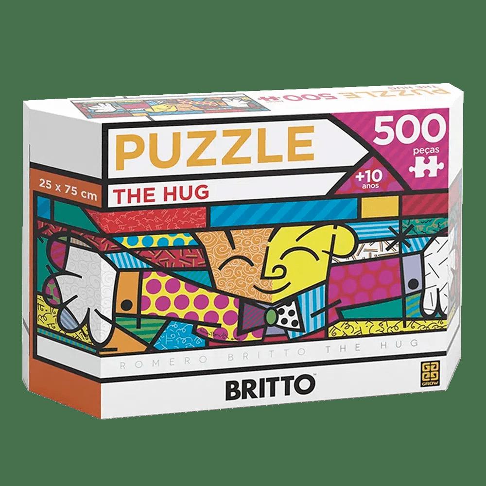 Pu7zzle Panorama Romero Britto - THE HUG 500 PECAS - GROW