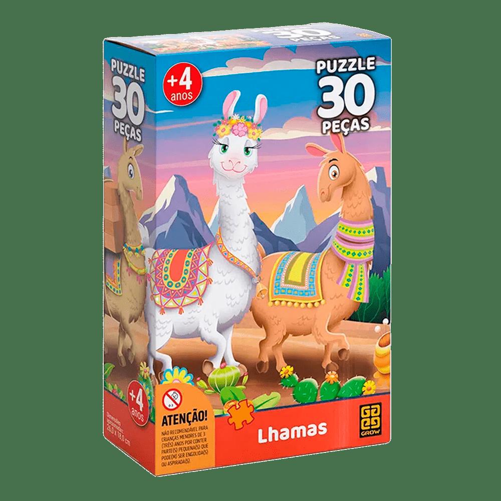 Puzzle Lhama 30 Peças - GROW