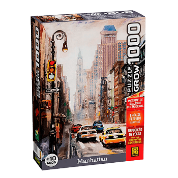 Puzzle Manhattan 1000 Peças - GROW