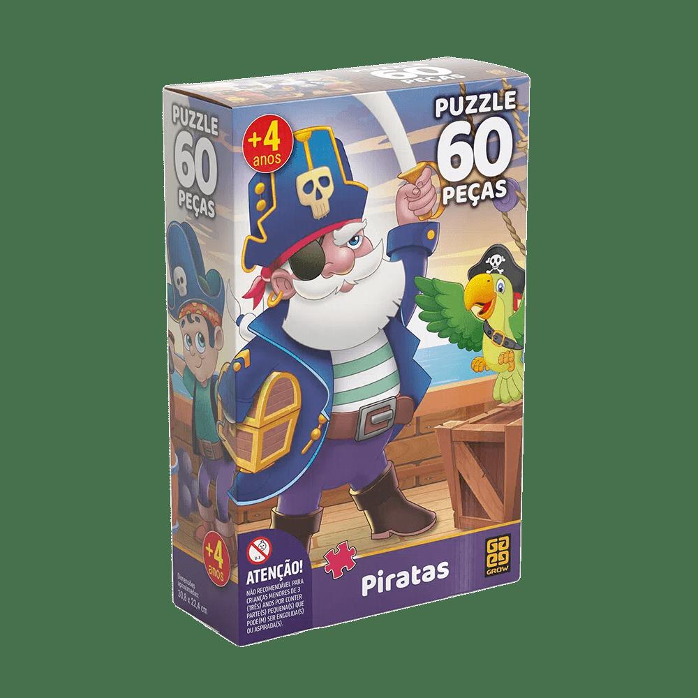 Puzzle Piratas 60 Peças - GROW