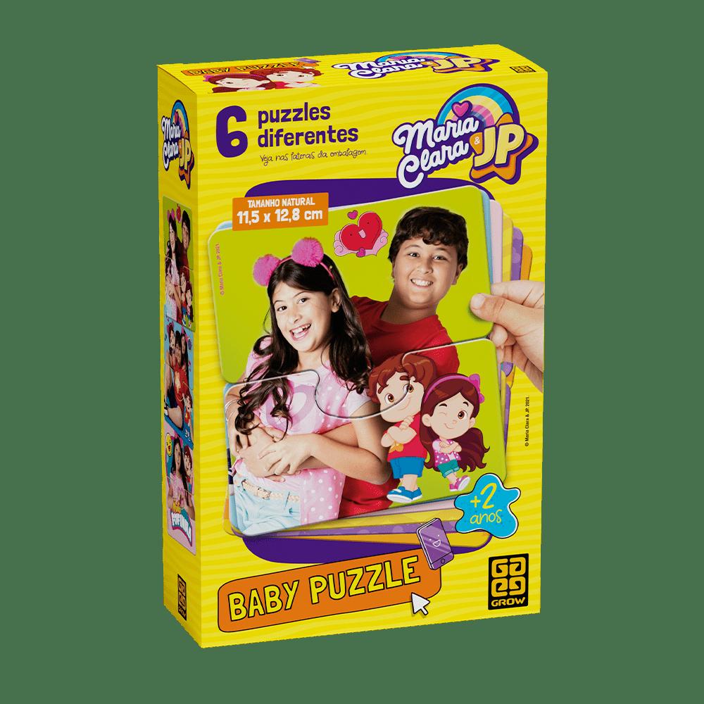 Quebra-Cabeça Baby Puzzle Maria Clara e JP 6 Peças - Grow