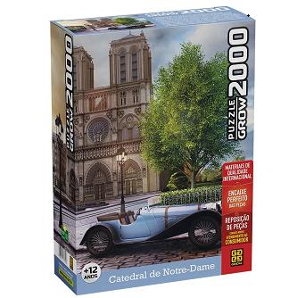 Quebra-Cabeça Puzzle Catedral De Notre-Dame 2000 Peças - Grow