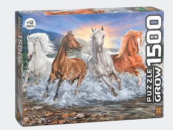 Quebra-Cabeça Puzzle Cavalos Selvagens 1500 Peças - Grow