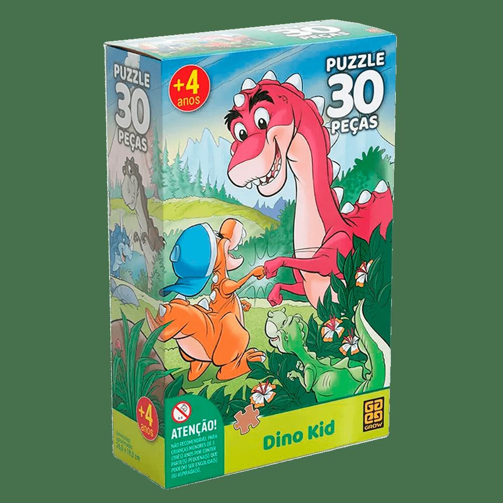 Quebra-Cabeça Puzzle Dino Kid 30 Peças - Grow