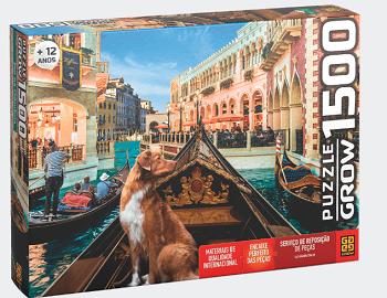 Quebra-Cabeça Puzzle Pet Na Gondola 1500 Peças - Grow