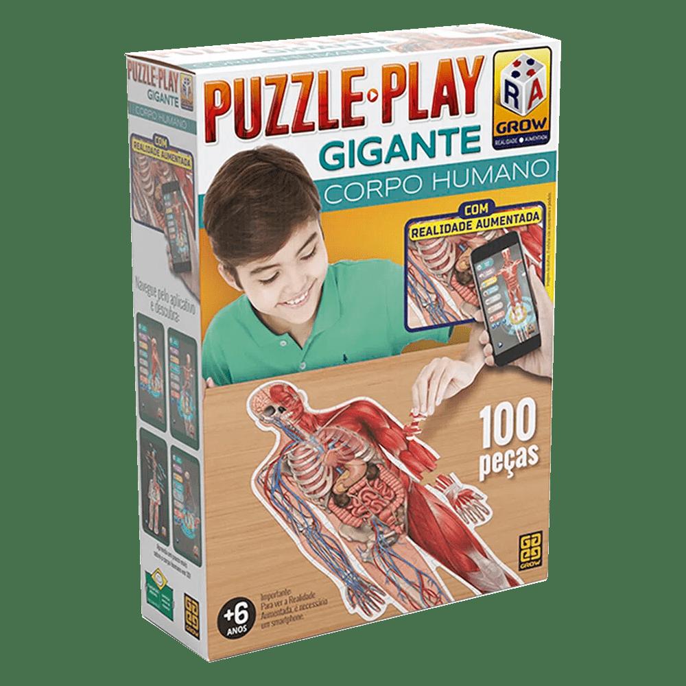Quebra-Cabeça Puzzle Play Gigante Corpo Humano 100 peças - Grow