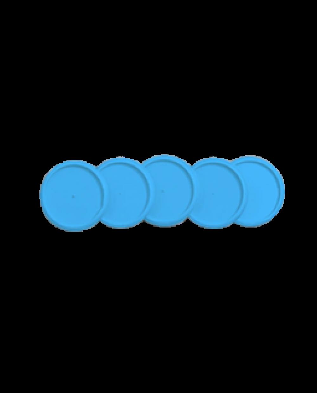 Refil de discos + elásticos médio azul - Caderno Inteligente