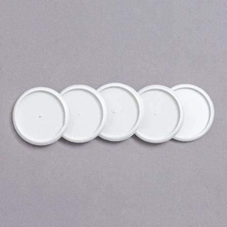 Refil de discos + elásticos médio branco - Caderno Inteligente