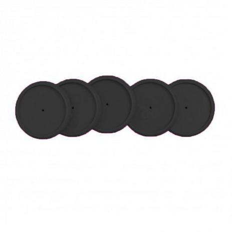 Refil de discos + elásticos médio preto - Caderno Inteligente