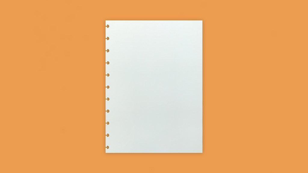 Refil Liso A5 Para Caderno Inteligente Com 50 Folhas - Caderno Inteligente