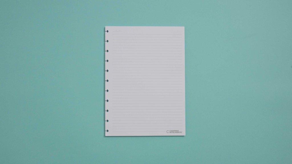 Refil Pautado Grande Para Caderno Inteligente Com 50 Folhas