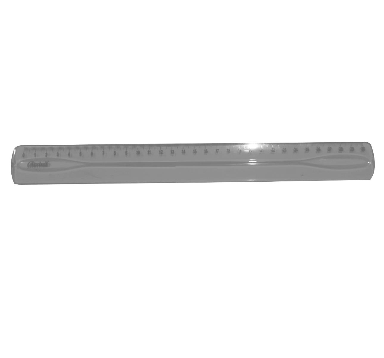 Régua Acrílica Fumê 30cm - Acrinil