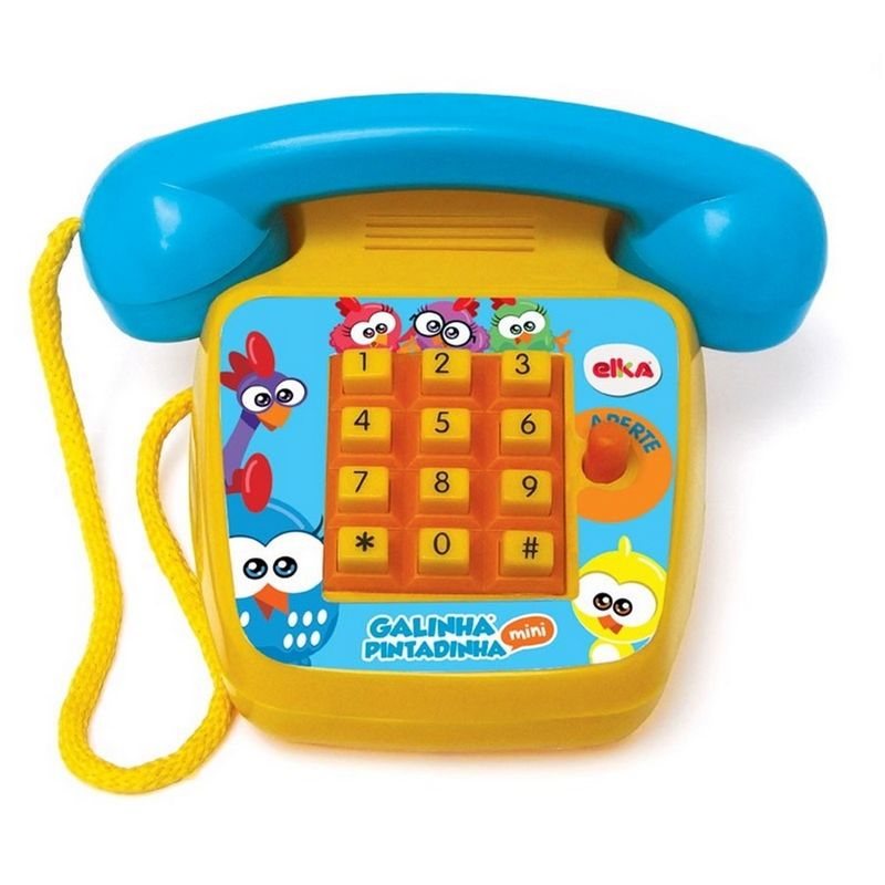 Telefone Infantil Foninho Galinha Pintadinha - Elka