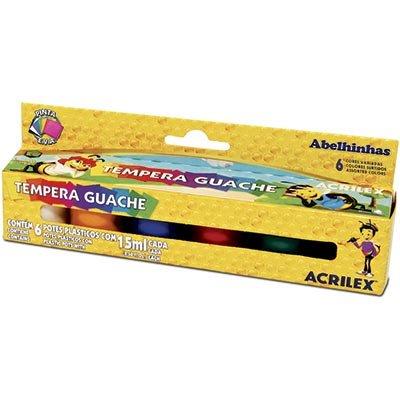 Tinta Guache Com 6 Cores - Acrilex