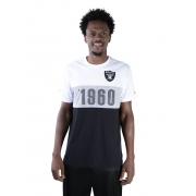 Camiseta New Era Nfv20Tsh038 - Bco/Pto