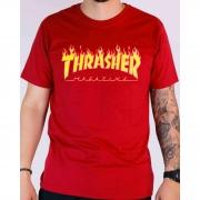 CAMISETA THRASHER FLAME 10130200002 - BOR/AMA