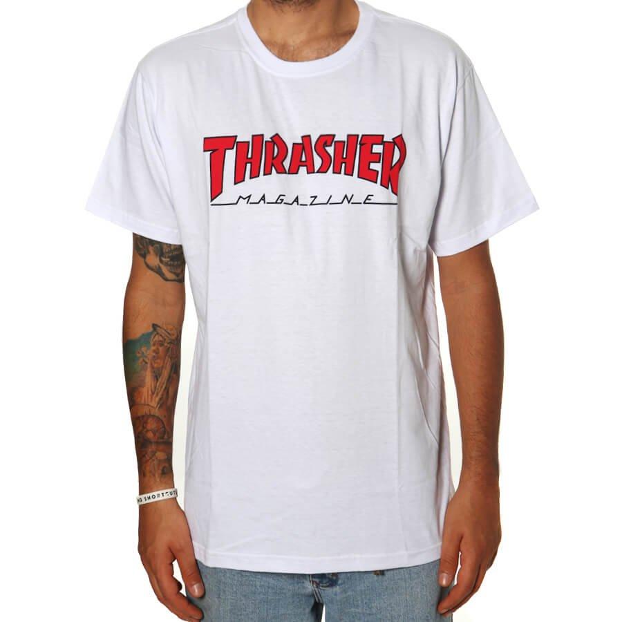 CAMISETA THRASHER 30003 - BCO/VRM