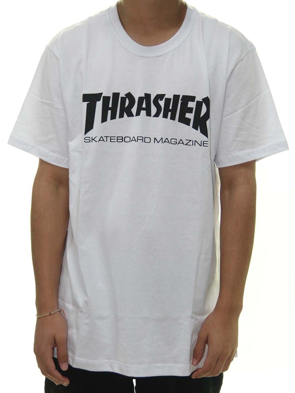 CAMISETA THRASHER TH30004 - BCO/PTO