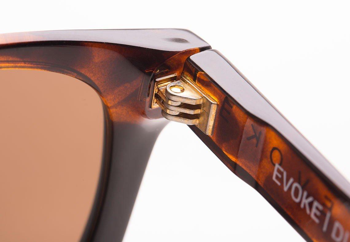 OCULOS EVOKE DIAMOND G21 TURTLE BLACK SHINE GOLD BROWN ZEV1A00006
