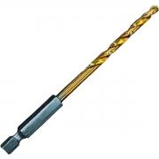 Broca Aço Titânio 6mm x 113mm p/ Metal Haste Sextavada - MTX