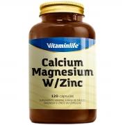 Calcium + Magnesium + W/Zinc 120 Cápsulas - Vitaminlife