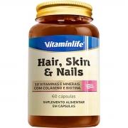 Hair Skin e Nails c/ Coláegno e Biotina 60 Cápsulas - Vitaminlife