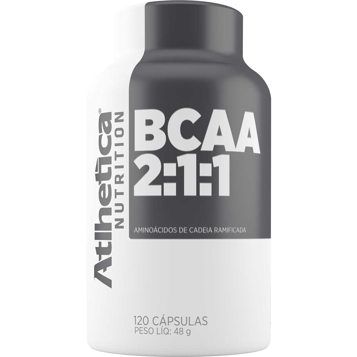 Bcaa 120 Cápsulas 2:1:1 - Pro Series - Atlhetica Nutrition